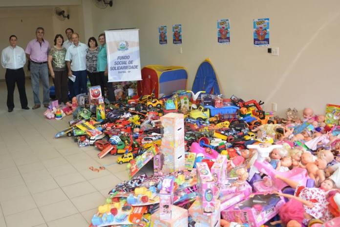 Acei colaborou com arrecadação de grande quantidade de brinquedos (Divulgação)