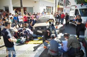 'Acidente' mobilizou equipes de resgate no Centro