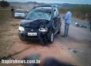 Acidente deixou uma pessoa morta e outra com graves ferimentos