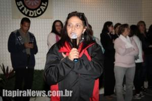 Proposta da Prefeitura não agradou aos servidores, diz Cristina