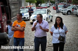 Guardas civis e policiais militares acompanharam manifestações