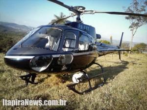 Helicóptero furtado em São Paulo foi abandonado em Amparo