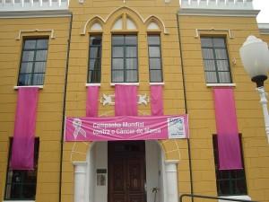 Prédios públicos ganham decoração cor de rosa (Divulgação)