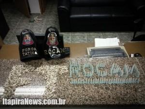 Drogas foram apreendidas por Rocam e Força Tática; dois presos