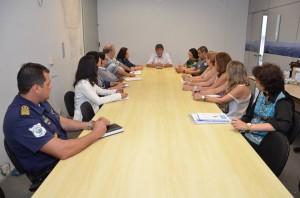 Paganini conversou com diretores, representantes da Educação e comando da PM e da GCM (Divulgação)