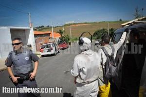 Ocorrência inusitada aconteceu durante trabalho de combate à dengue (Paulo Godoy)