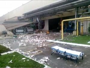 Explosão em fábrica de cerveja causou três mortes (Sindicato dos Trabalhadores da Alimentação/Divulgação)