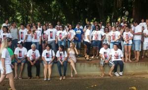 Grupo se reuniu também no Parque, último local em que Wellington foi visto (Divulgação)
