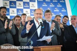 Alckmin veio a Itapira para solenidade que entregou três obras