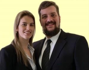 Nelise Amanda Bilatto, 30, é advogada pós-graduada em Direito Previdenciário. Dener Angelo Dalbem Bilatto, 34, é administrador pós-graduado em Direito Previdenciário (Divulgação)