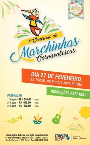Concurso premiará melhores marchinhas em Itapira (Reprodução)