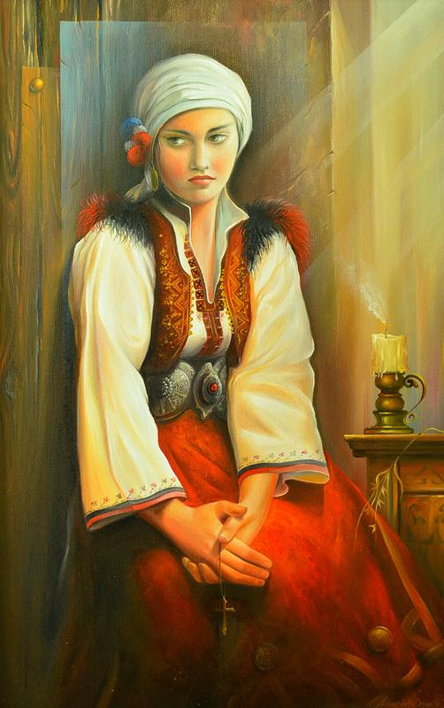 Калеш Анѓа - Масло на платно - автор - Дејан Макриевски