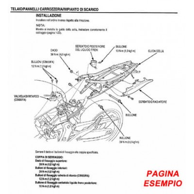 E1801 Manuale officina per Moto Husqvarna SM 610 e TE 610