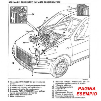 E1780 Manuale d'officina Fiat Multipla Bipower 1.6 16V dal