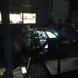Testování auta na simulátoru