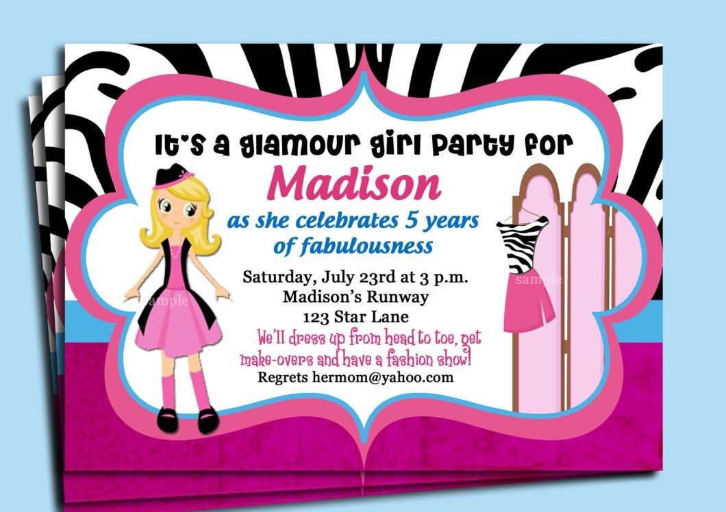 Fashion Show Party Invitation Templates | Invitationjdi.co