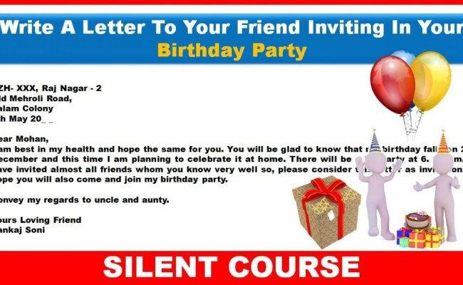 invite him her on your birthday party