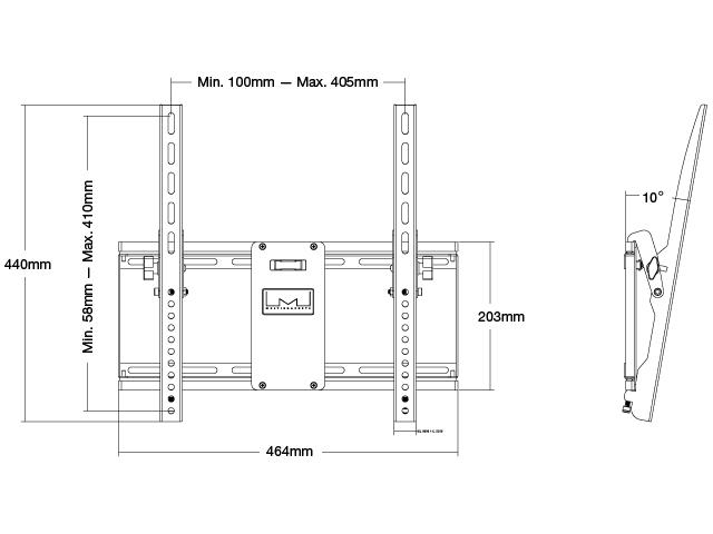 Staffa Standard inclinabile vesa 400×400
