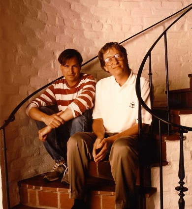 Bill Gates And Steve Jobs in Happier Times