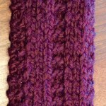 Second side of Knit scarf. itchinforsomestitchin.com