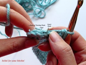 Double Crochet in top of turning chain