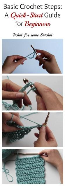 How to Crochet:  Basic Steps for Beginners