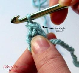 First single crochet made. http://www.itchinforsomestitchin.com