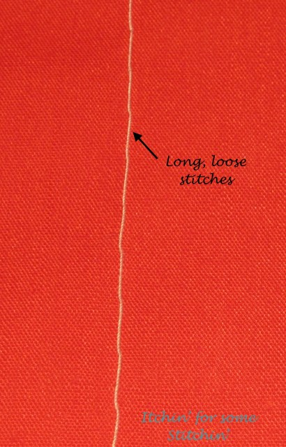 Basting Stitch. http://www.itchinforsomestitchin.com