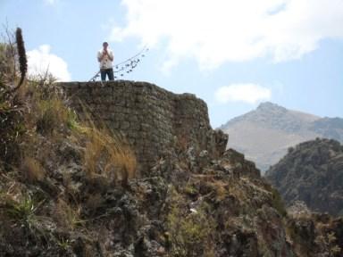 Pisac, Peru ancient ruins.