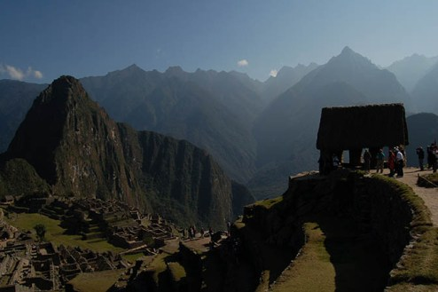 Machu Picchu and its surrounding hills
