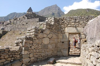 Some brickwork at the Machu Picchu ruins