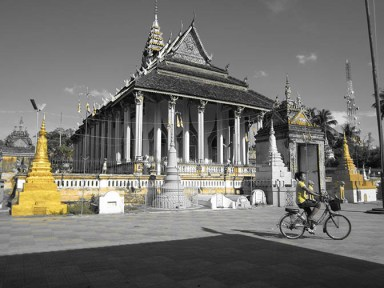Wat Damrey Sar in Battambang, Cambodia