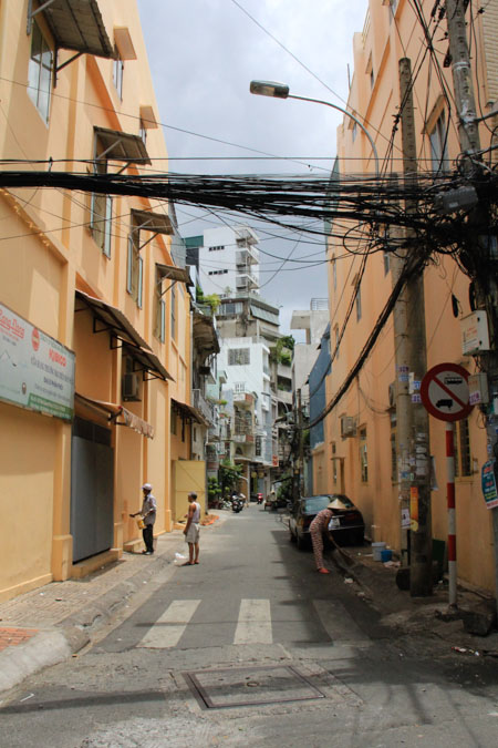 Chinatown street in Saigon, Vietnam