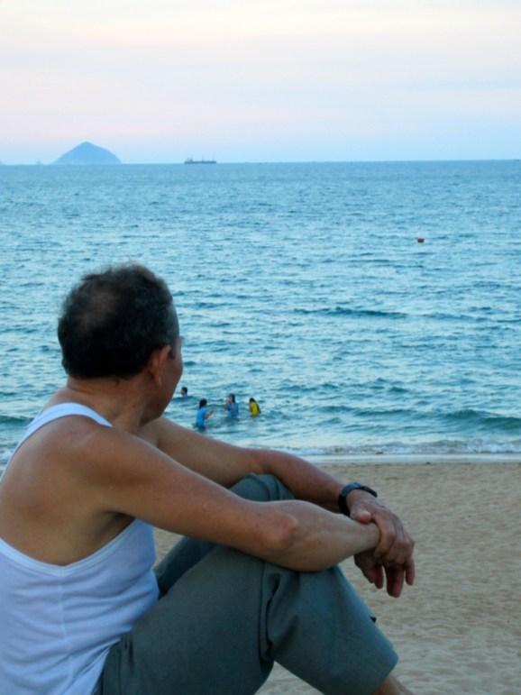 Man watching the beach