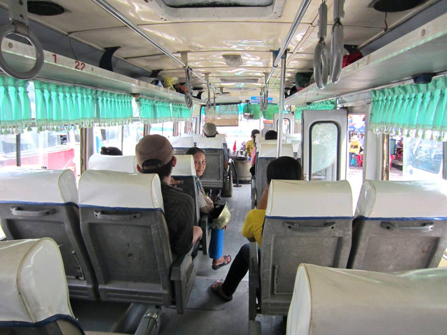 Riding the bus in Vietnam