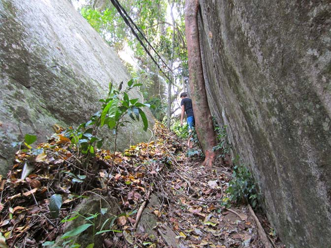 Hiking from ABC to Monkey Beach on Tioman Island, Malaysia