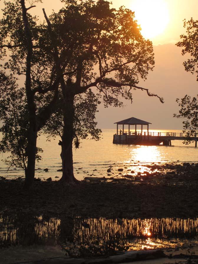 The sunset on Tioman Island, Malaysia