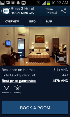 Boss 3 Hotel profile on HotelQuickly app