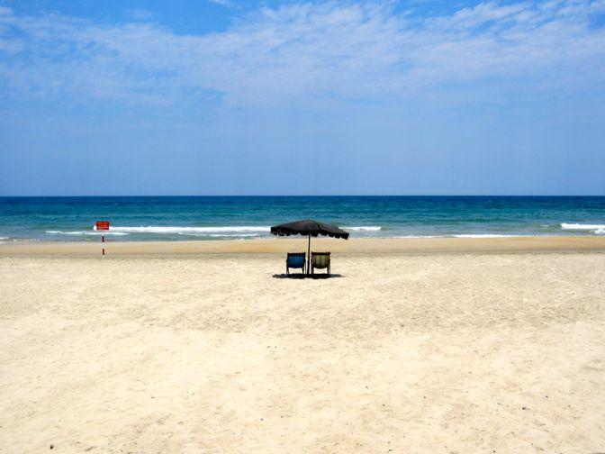A beach in Da Nang, Vietnam