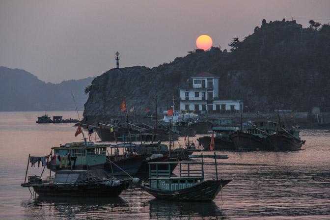 Sunset in Cat Ba Island, Vietnam