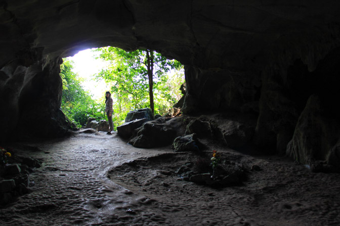 Cave of the Prehistoric Man in Cuc Phuong National Park Vietnam