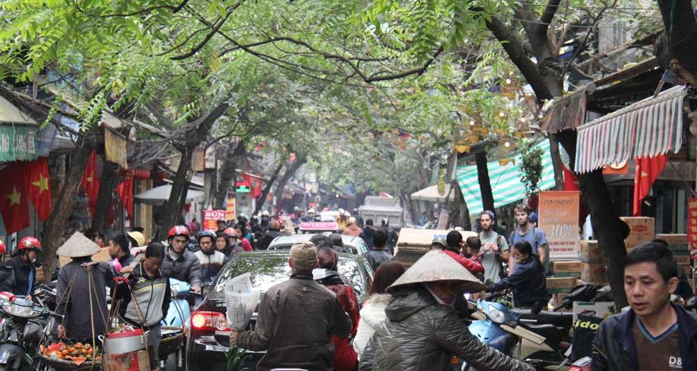 The old quarters in Hanoi, Vietnam