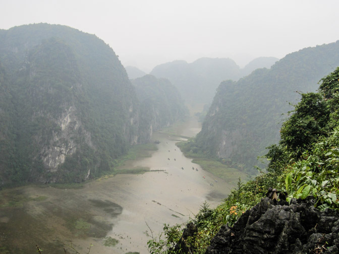 Hang Mua cave's viewpoint in Trang An Vietnam