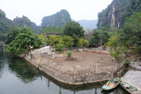 A yard located along Tam Coc, Vietnam's river.