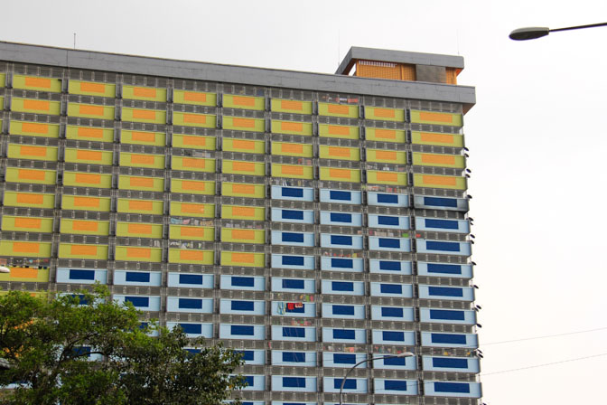 A cool colorful apartment building in Ipoh, Malaysia