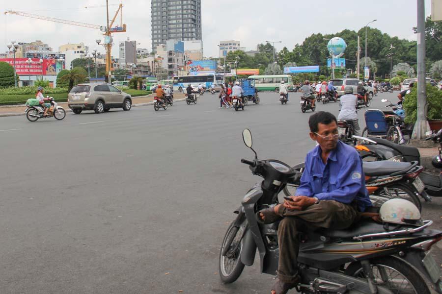 Moto-taxi driver in Vietnam