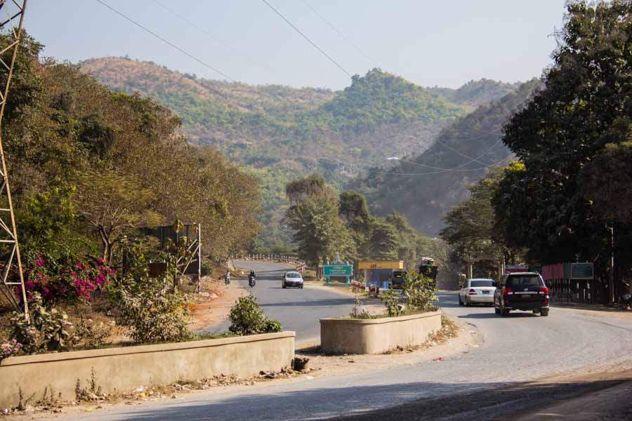 Road going to  Pyin U Lwin, Myanmar