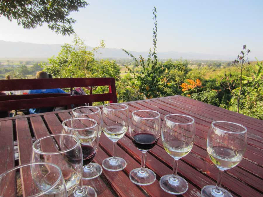 Inle Lake, Red Mountian Estate Winery in Myanmar