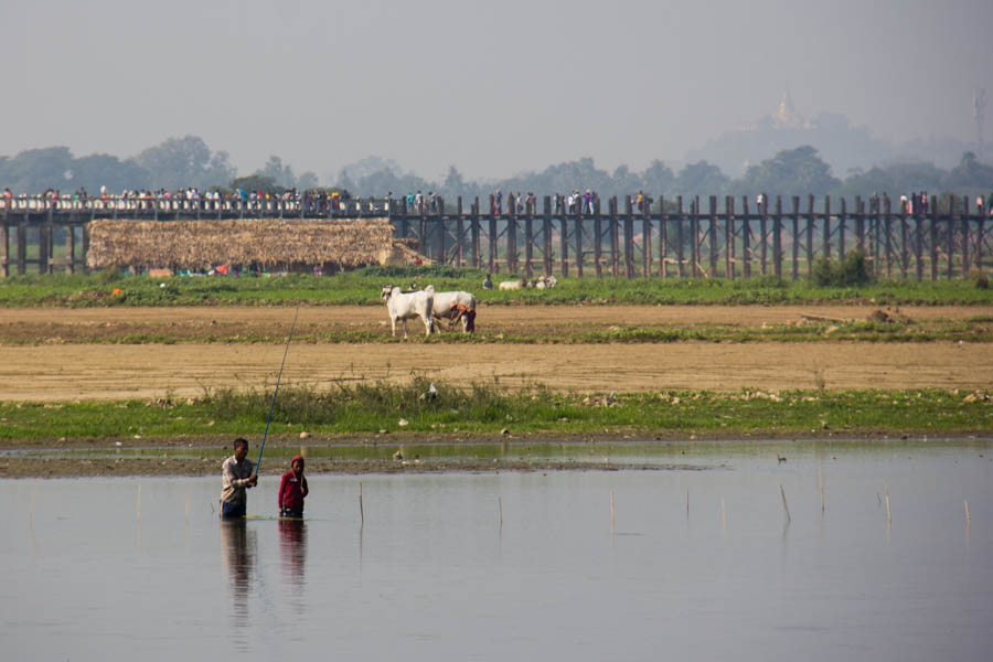 U Bein Bridge outside of Mandalay, Myanmar