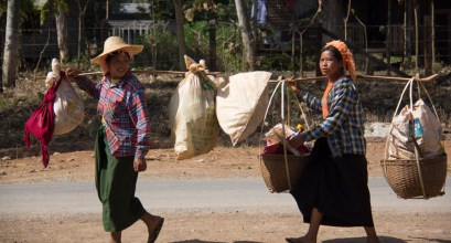 Local Burmese woman around Inle Lake, Myanmar